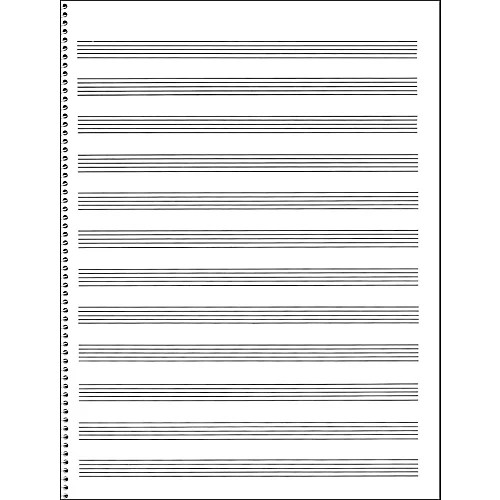 Music Sales Passantino Manuscript Paper #65 12 Stave, 32 Page