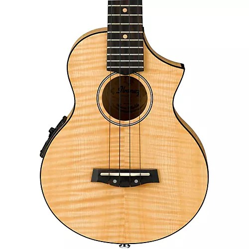 Ibanez Ukulele Ibanez Uew12e Flame Maple Concert Ukulele Natural | Guitar Center