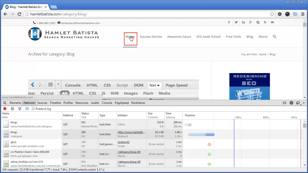 Redirect WWW to Non-WWW on Apache Step 22 - Open Homepage