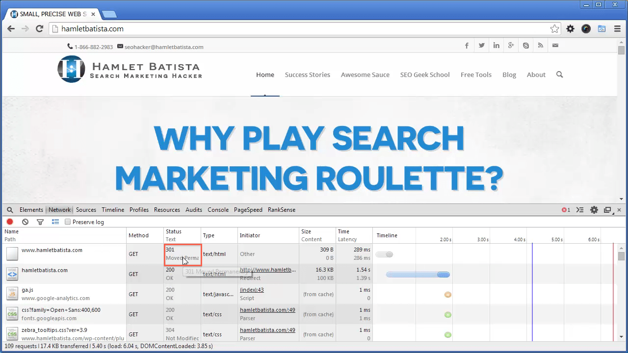 Redirect WWW to Non-WWW on Apache Step 24 - Notice HTTP Response