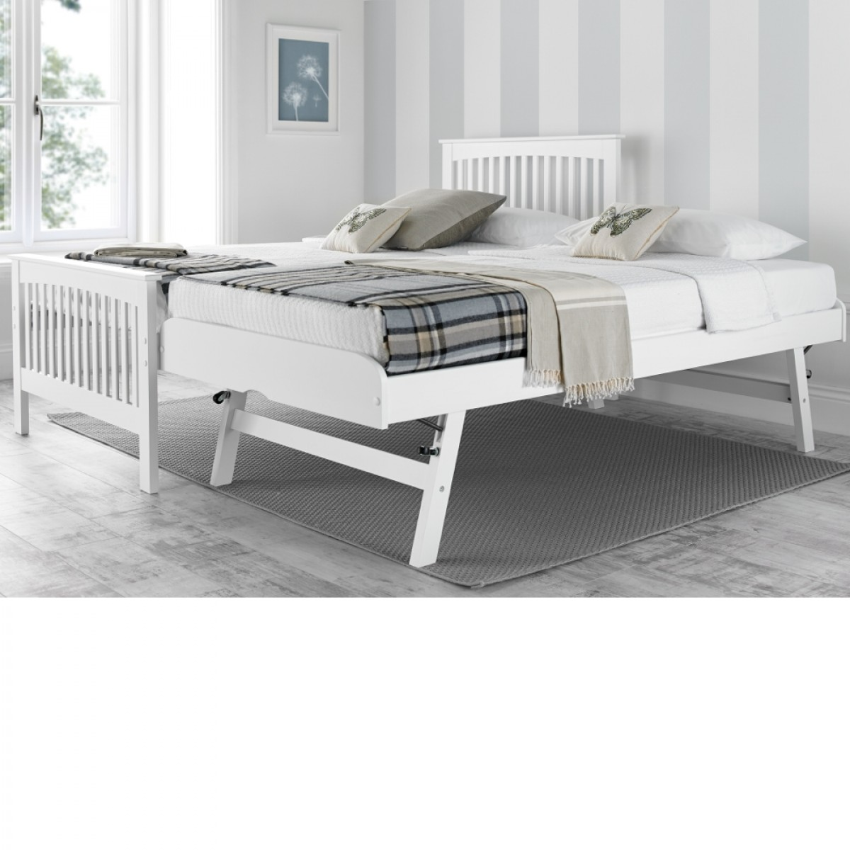 White Trundle Bed Toronto White Wooden Guest Bed And Trundle 3ft Single