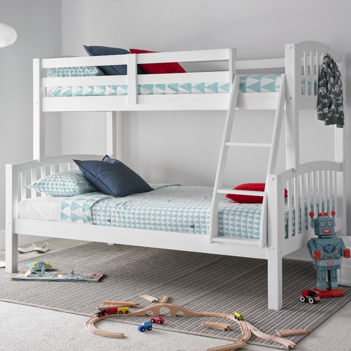 White Wooden Bunk Beds American White Wooden Triple Sleeper Bunk Bed