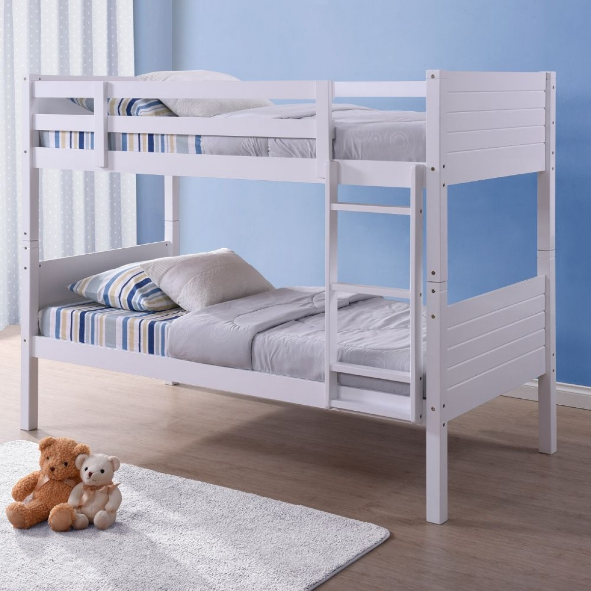 White Wooden Bunk Beds Bedford White Wooden Bunk Bed