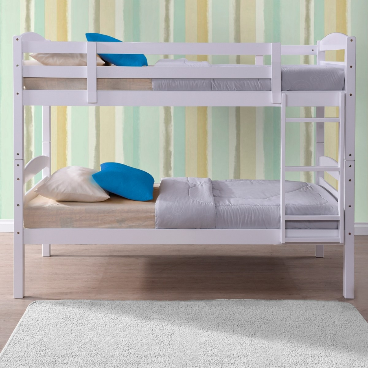White Wooden Bunk Beds Chatsworth White Wooden Bunk Bed