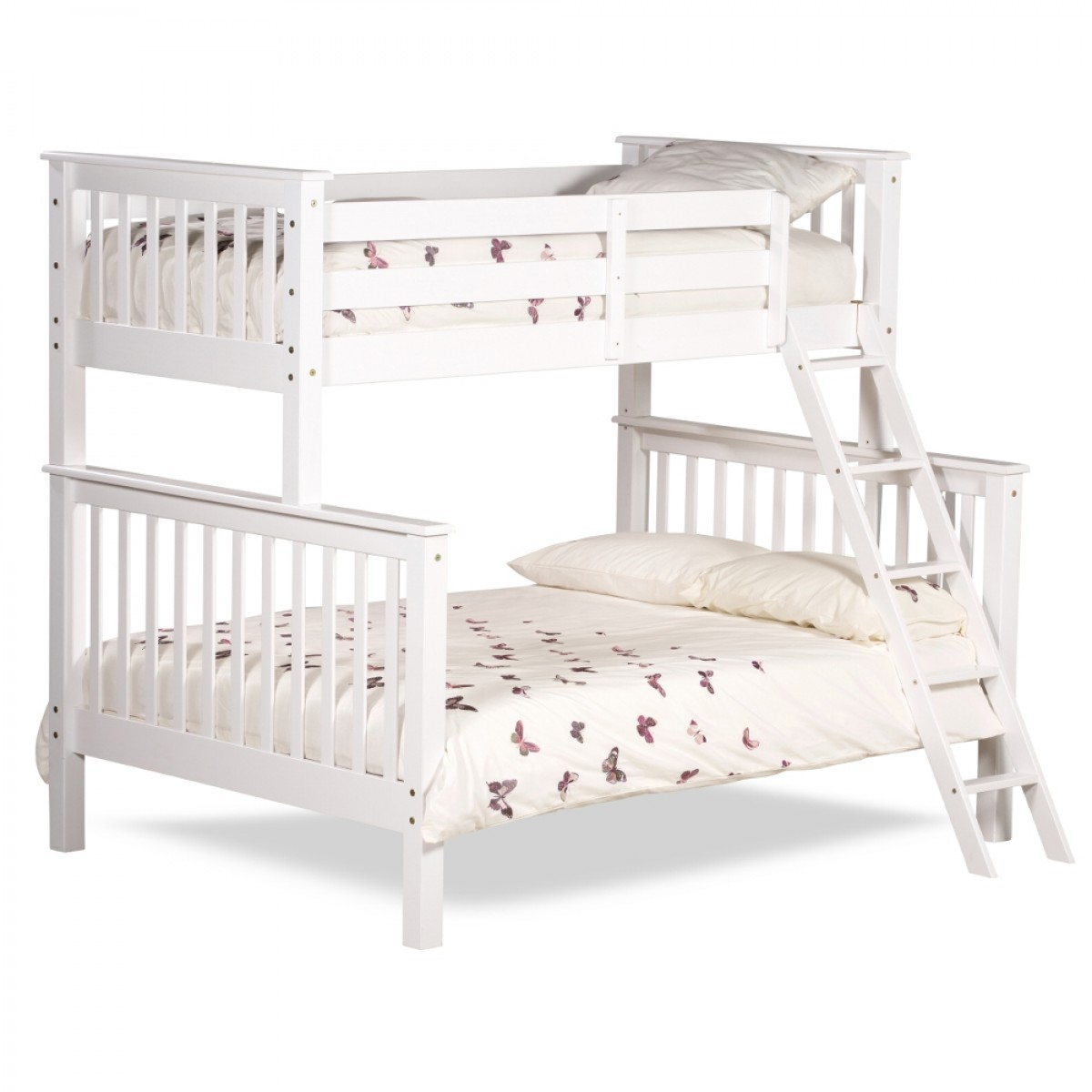 White Wooden Bunk Beds Chiltern White Wooden Triple Sleeper Bunk Bed