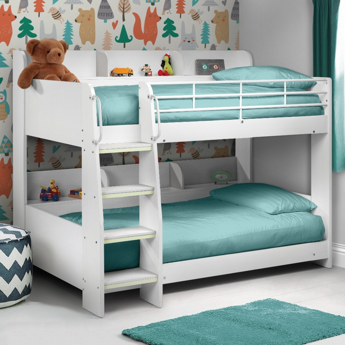 White Wooden Bunk Beds Julian Bowen Domino White Wooden Kids Bunk Bed