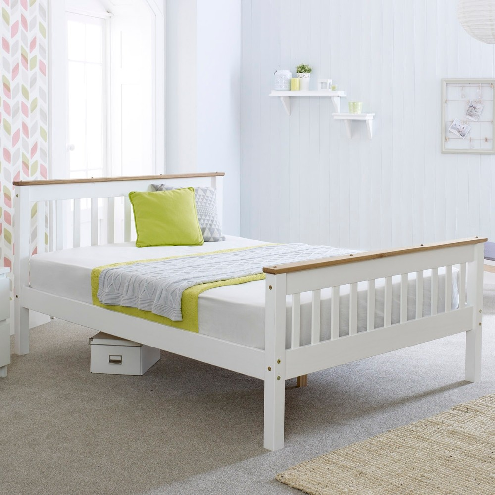 Devon White Wooden Bed Frame 4ft Small Double