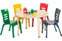 ECR4Kids Bentwood Preschool Tables and Chairs, Classroom ...