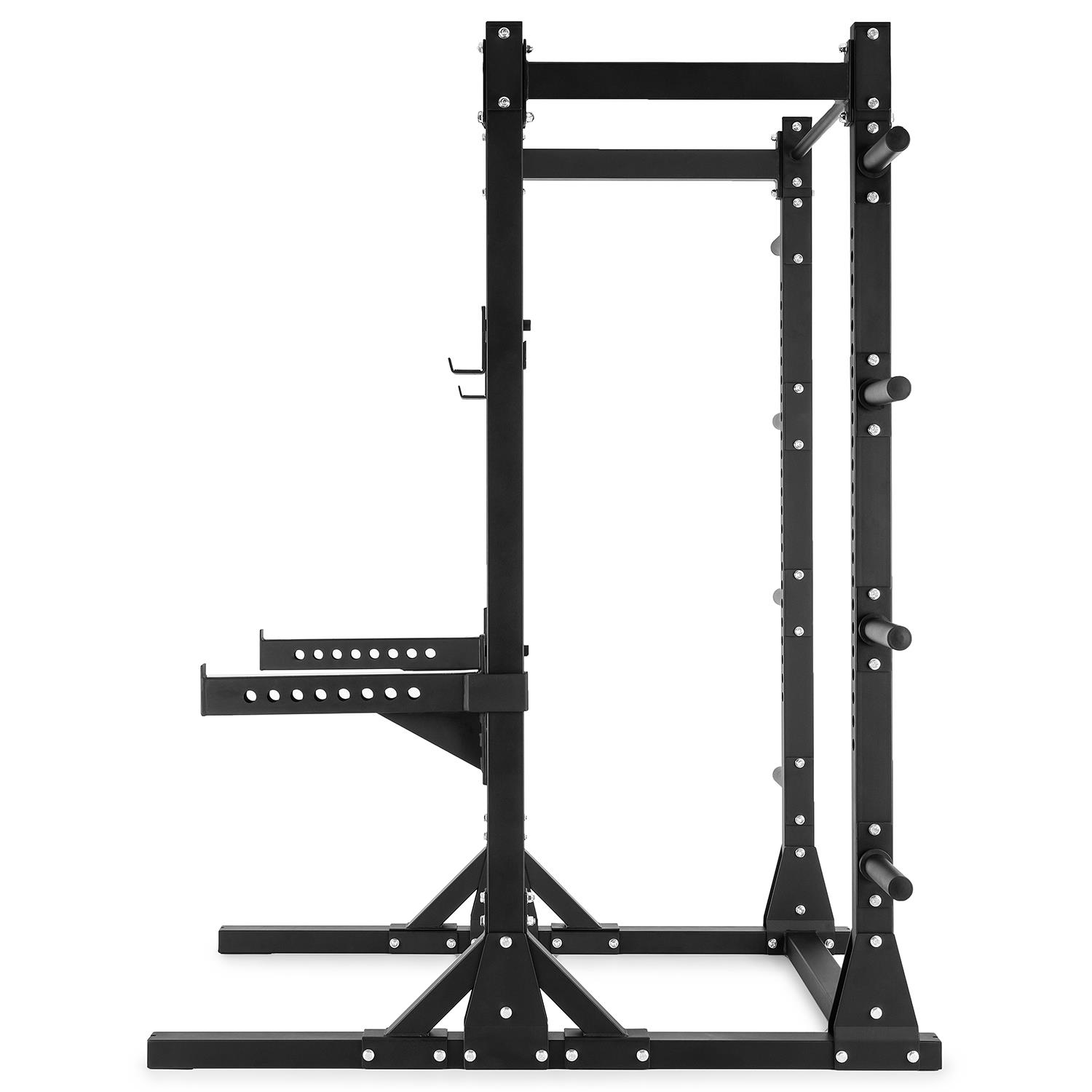 Capital Sports Half Rack Power Machine Squat Pull Up Bars