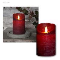 LED Kerze mit Timer & beweglicher Flamme, flammenlose