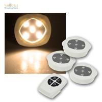3 LED Unterbauleuchten warmwei Fernbedienung ...