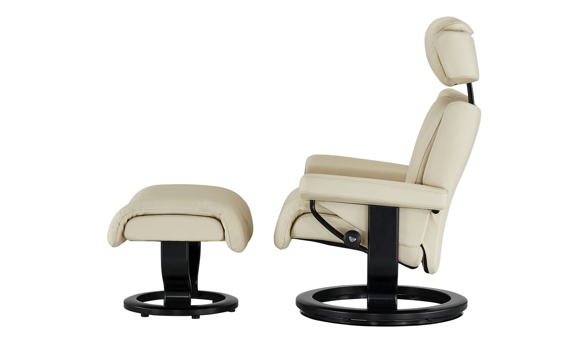 Stressless Relaxsessel Mit Hocker Magic L Creme Schwarz