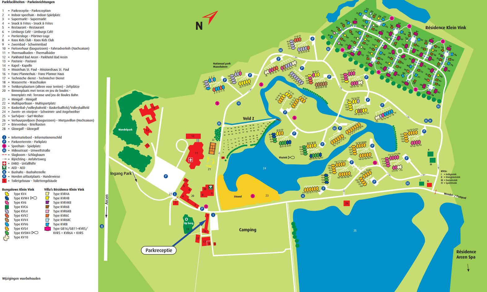 Zwembad Arcen Openingstijden Roompot Bungalowpark Klein Vink Map Ground Plan The Best Offers