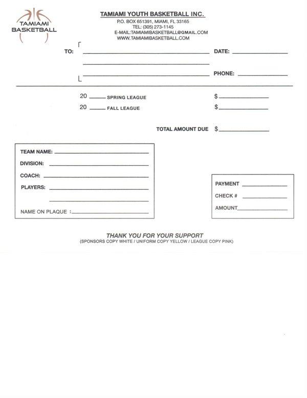 TAMIAMI BASKETBALL Home Page - how to make a sponsor form