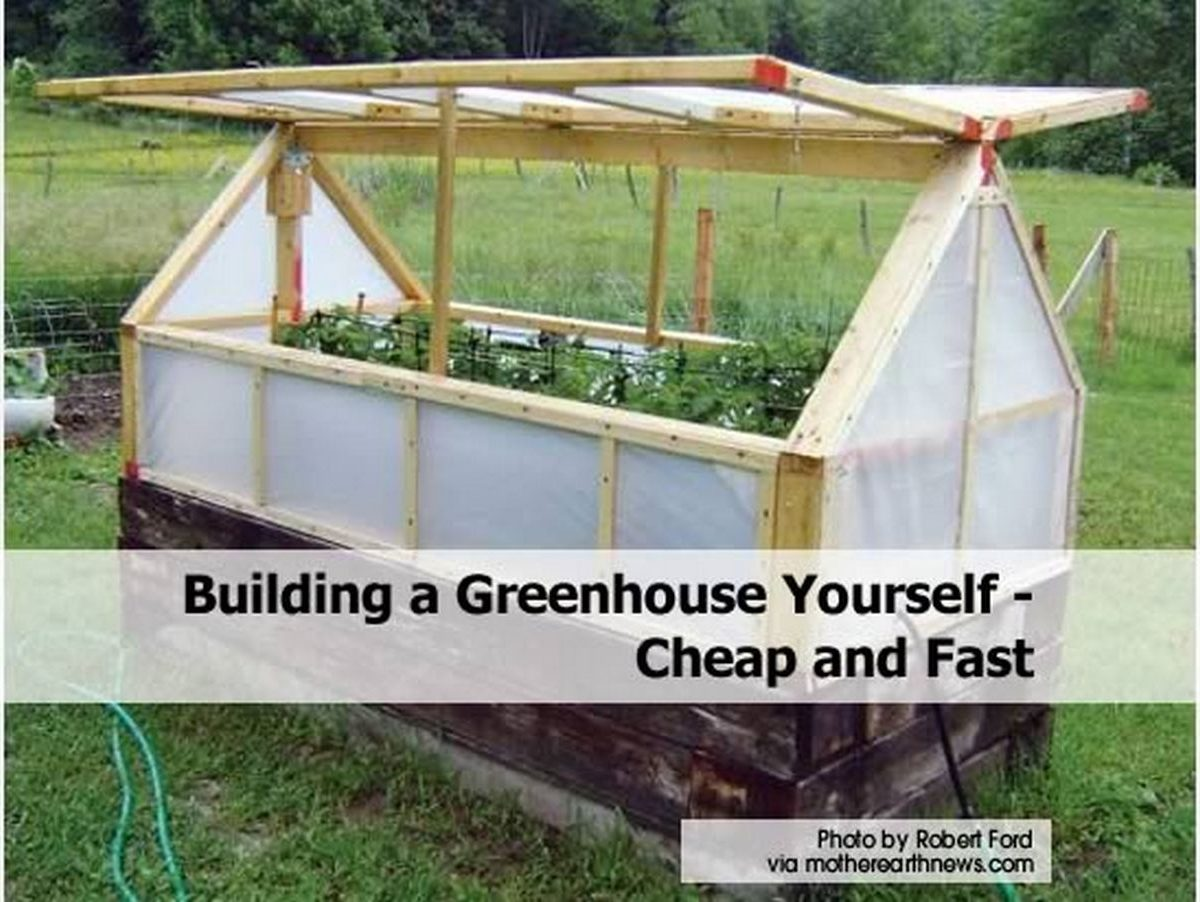 Diy Garden Window Plans Building A Greenhouse Yourself Cheap And Fast