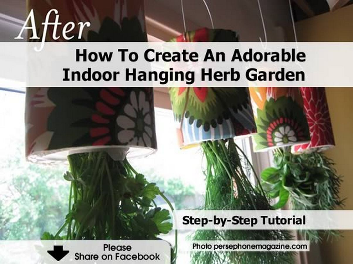 Hanging Indoor Herb Garden How To Create An Adorable Indoor Hanging Herb Garden