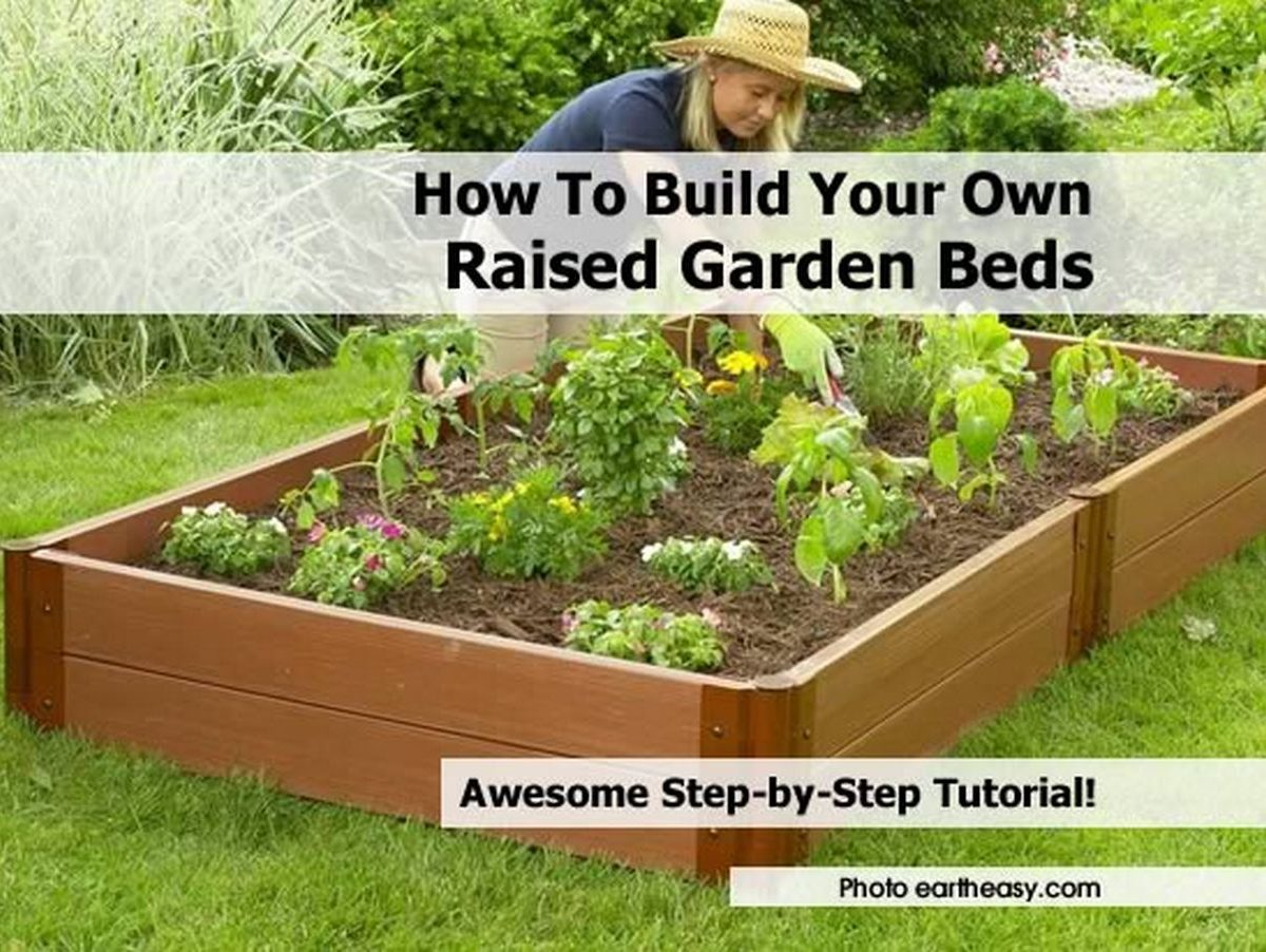 Instructions For Making Raised Garden Beds How To Build Your Own Raised Garden Beds