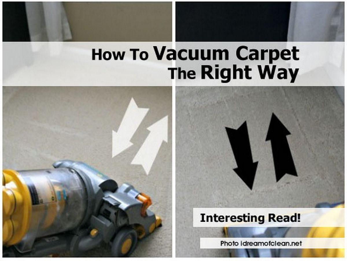 How To Vacuum Carpet The Right Way