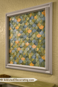 How To Make A Fish Scale Watercolor Wall Art