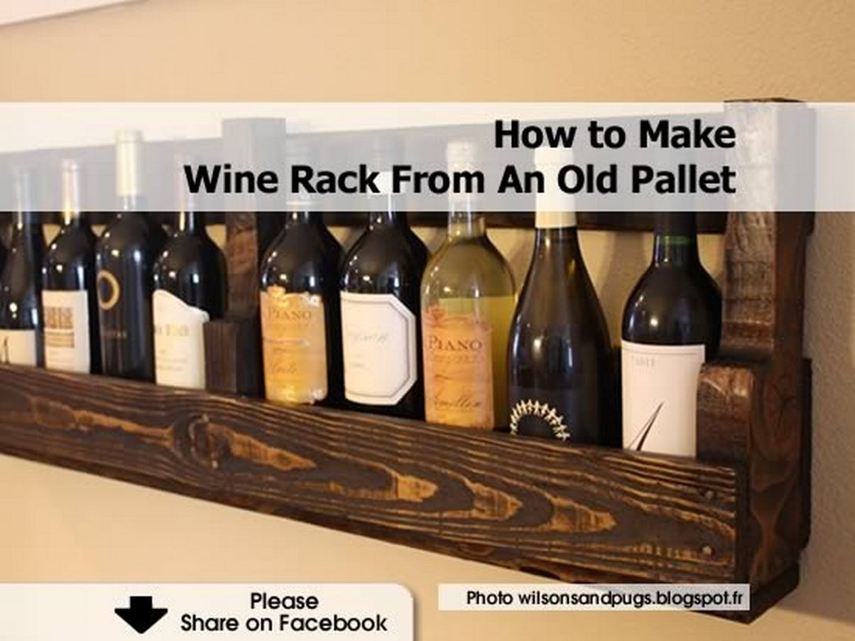 How To Make A Wine Rack How To Make Wine Rack From An Old Pallet
