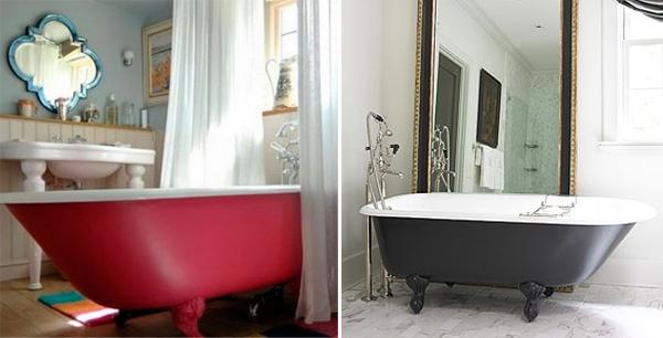 Paint Your Bath Tub A Bright Colour Houseandhomeie