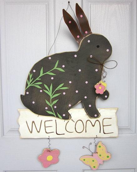 Door Easter bunny