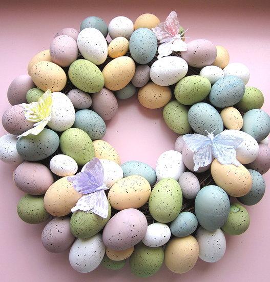 Easter-egg wreath after