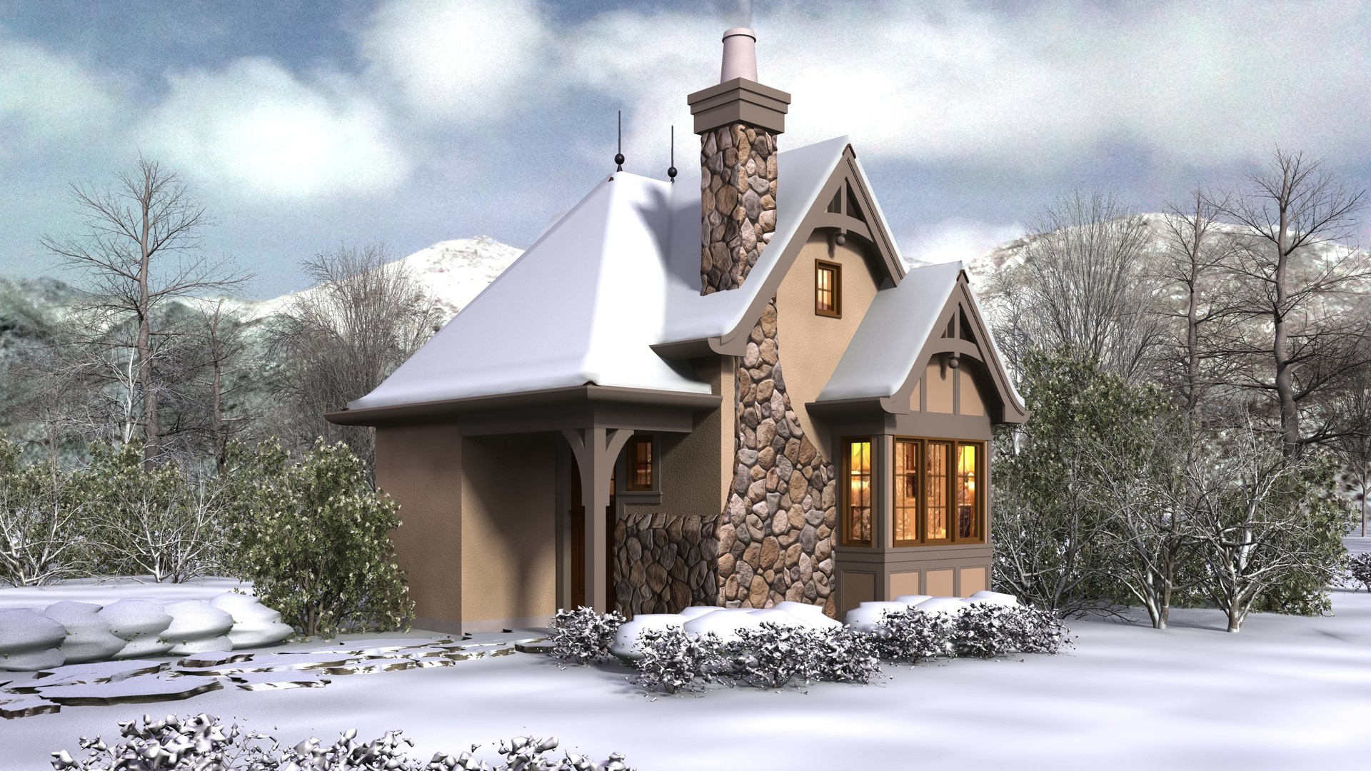 Plans For Building A New House Cottage House Plan 5033 The Bucklebury: 300 Sqft, Beds