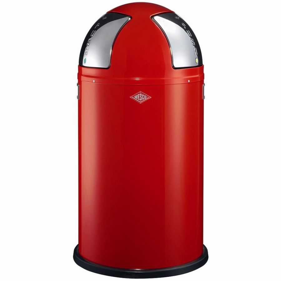 Mülleimer Rot Wesco Push Two Mülleimer 50 L