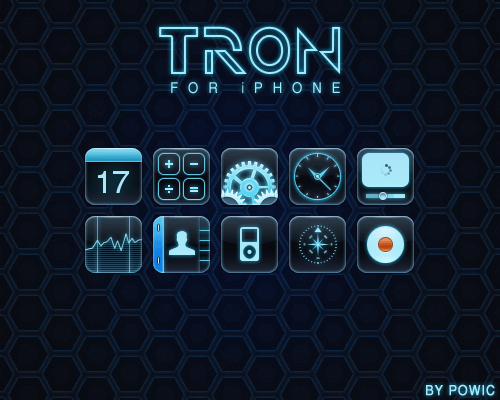 3d Wallpapers Blue Theme Wallpaper Bring The Awesome Look Of Tron To Your Iphone
