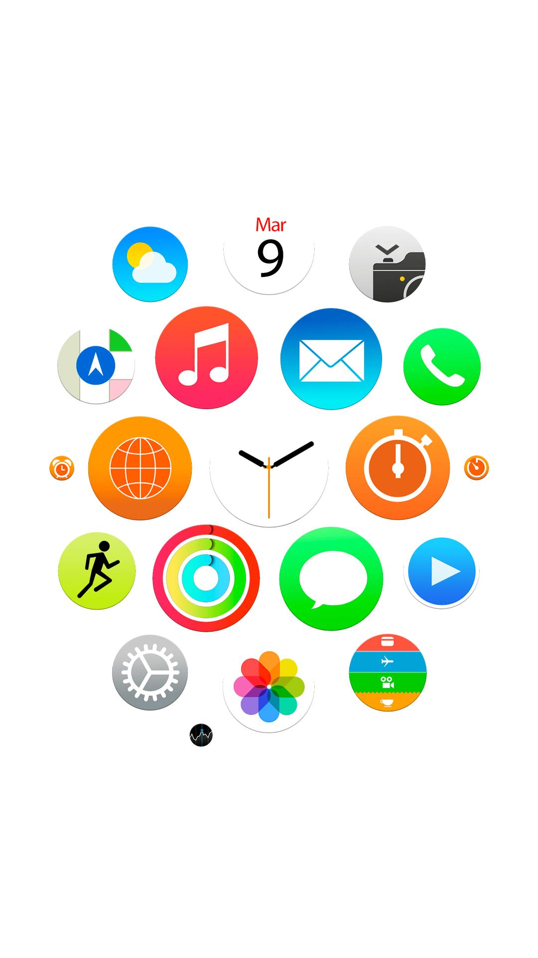Wallpaper Lock Screen Iphone 7 Apple Watch App Icons Wallpapers For Iphone Ipad And Desktop
