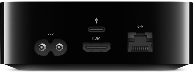 Apple TV 4 por detrás