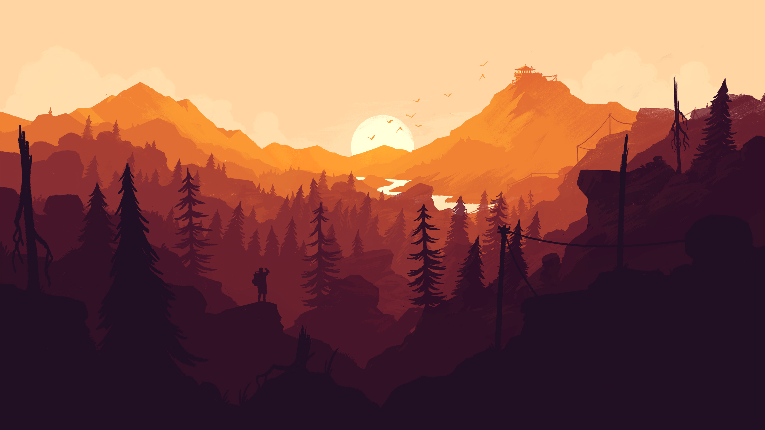 Rog Animated Wallpaper Firewatch Wallpaper For Iphone And Desktop