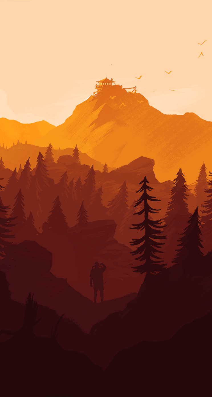 Dynamic Wallpaper Iphone X Firewatch Wallpaper For Iphone And Desktop