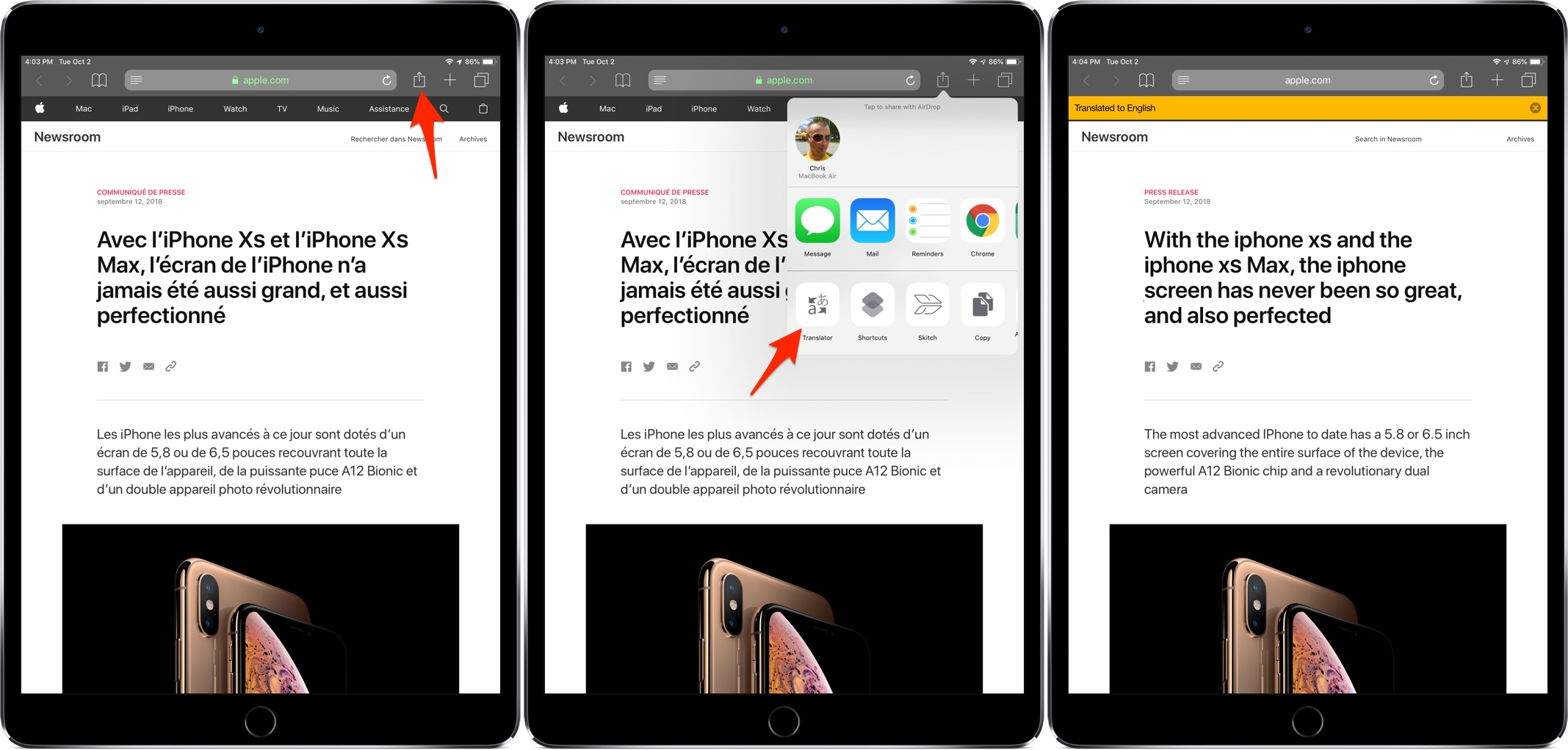 Einrichten Translate How To Translate Webpages In Safari For Iphone And Ipad