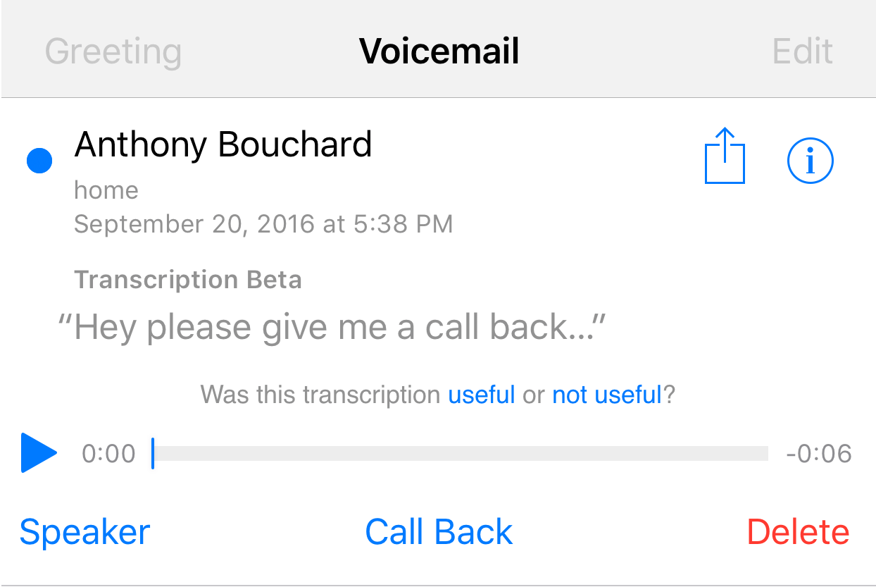 How To Set Up Voicemail Iphone Voicemail Transcripts Ios 10 Download How To  Set Up