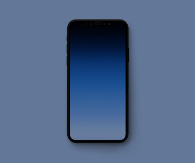 Minimal gradient wallpapers to hide the iPhone X notch