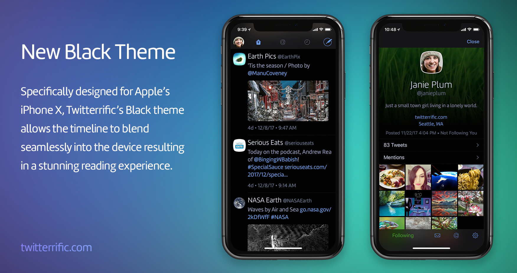 Iphone X Features Twitterrific Unveils Iphone X Optimized Black Theme And