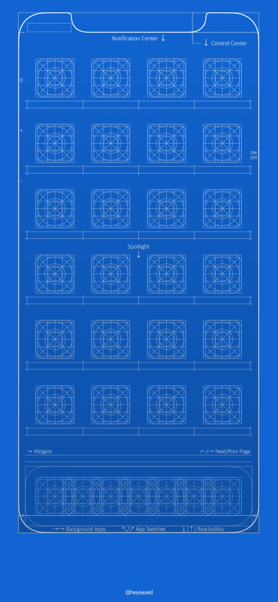 Grid and blueprint wallpapers for iPhone