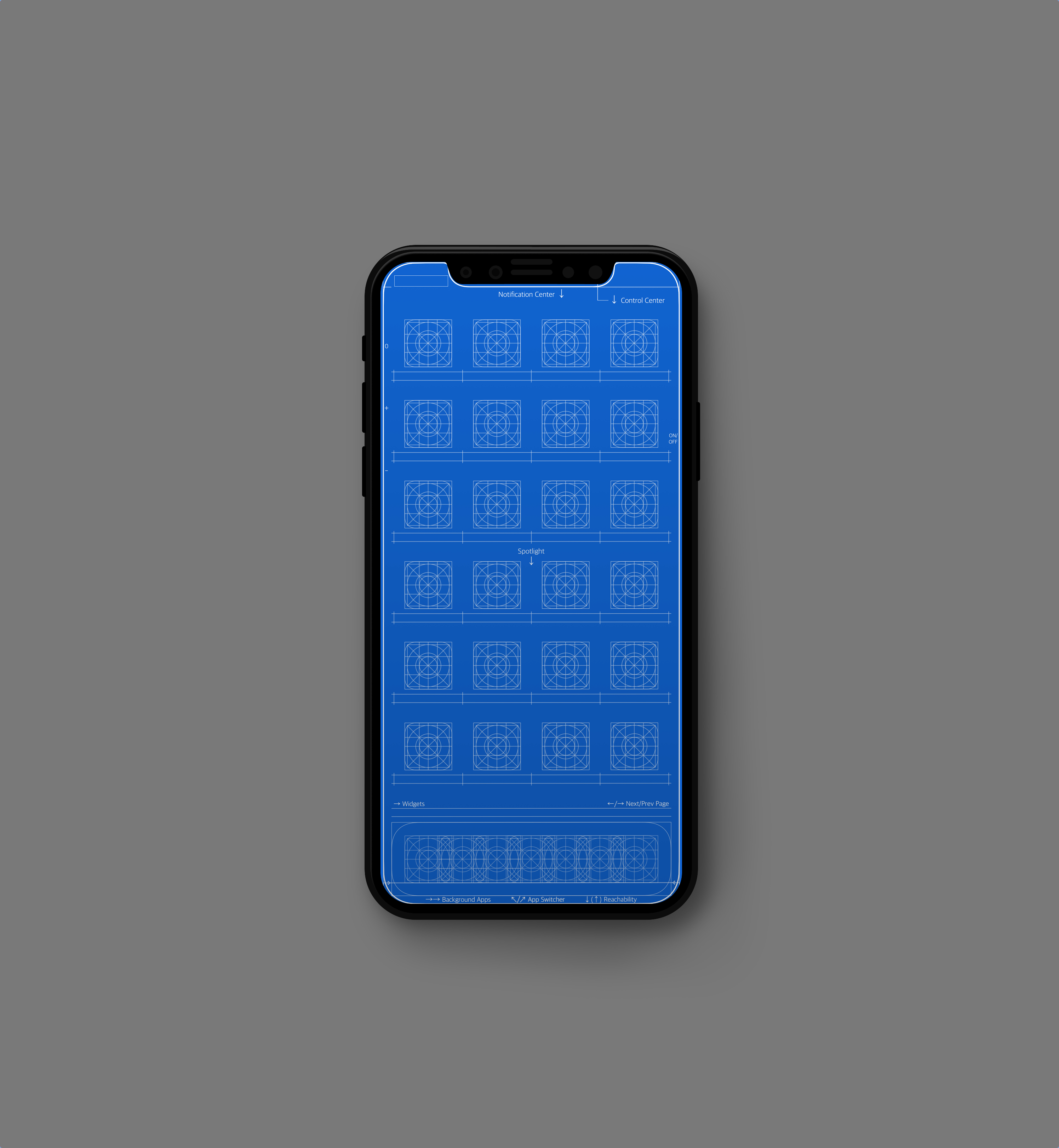 Best Iphone X Wallpaper Grid And Blueprint Wallpapers For Iphone
