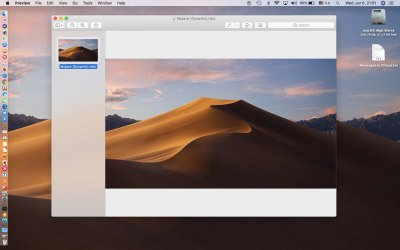 macOS Mojave sports a time-shifting wallpaper that changes through the day
