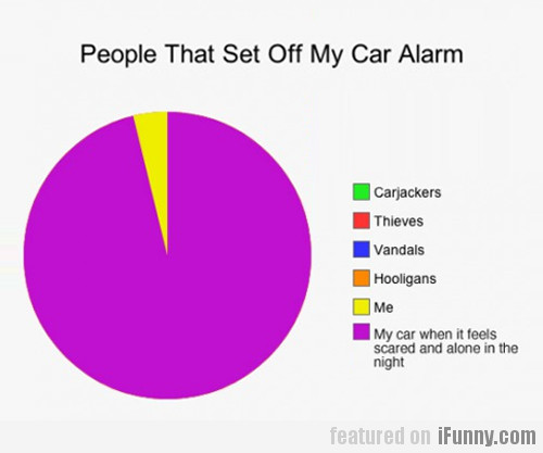 People That Set Off My Car Alarm