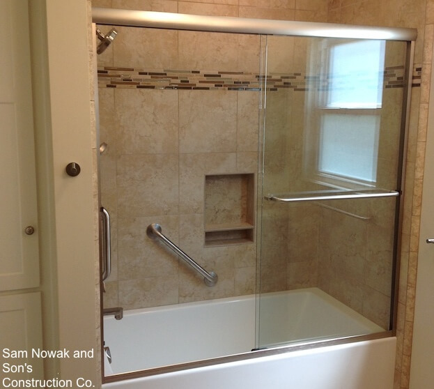 1 8 Grout Line How To Install Shower Grab Bars | Shower Safety Bars
