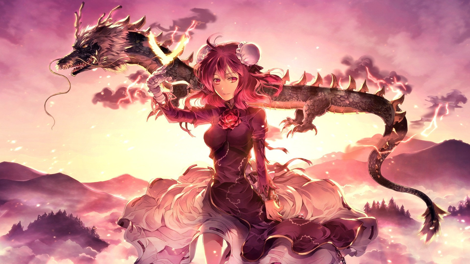 Red Dragon Girl Wallpaper Old Anime Wallpaper S Full Hd 18 08 14 File Indie Db