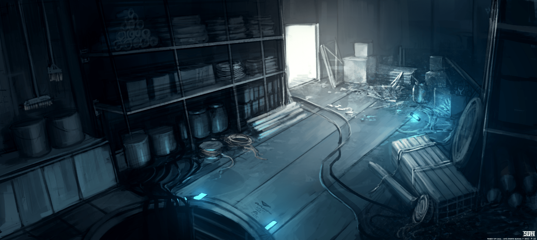 Wallpaper Engine Gun Anime Girl Construction Room Concept Art Image Wake Up Call Indie Db