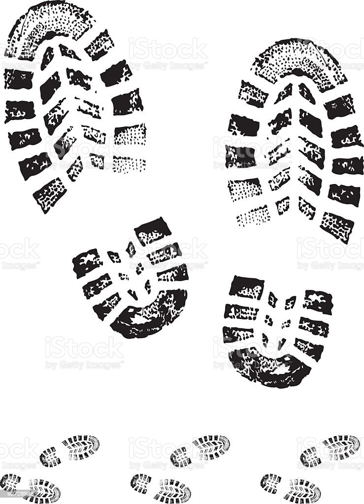 Chaussure Step Boot Print Stock Vector Art & More Images Of Boot 92728936