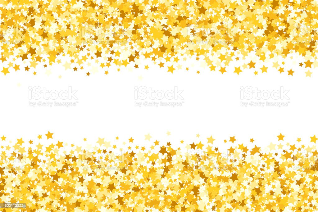 Falling Gold Sparkles Wallpaper Border With Shimmer Stars Gold Sparkle Golden Frame Of