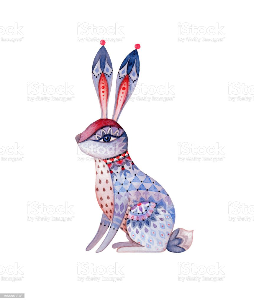 Animal Design Cute Rabbit Abstract Watercolor Animal Illustration Magic Forest