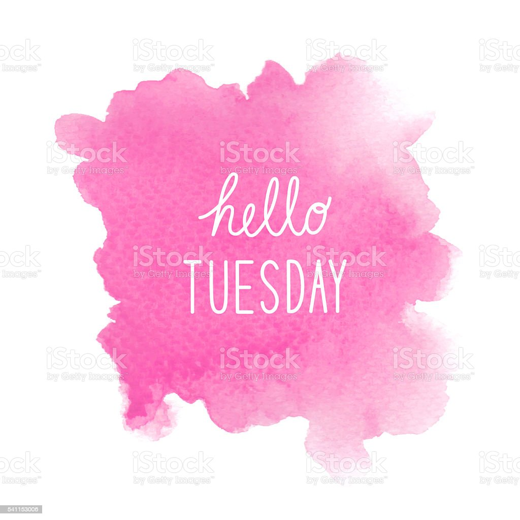 The Color Of The Wallpaper Quote Tuesday Clip Art Vector Images Amp Illustrations Istock