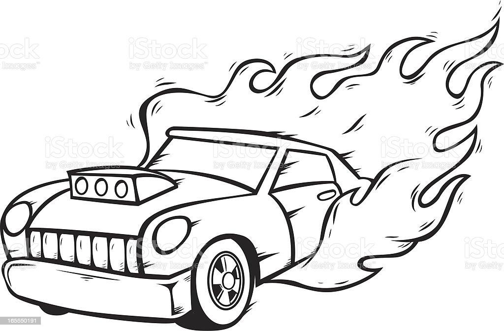 car fuse box on fire